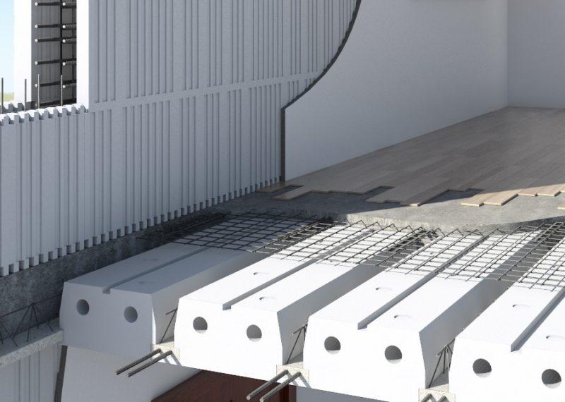 Sistema STEP: Solaio STEP + muro STEP